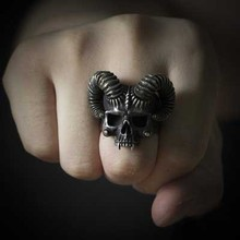 Onlysda Unique Silver Color 316L Stainless Steel Evil Skull Ring Mens Punk Rock  Biker Jewelry Dropshipping OSR289 high quality punk harley jewelry boys mens chain skull black silver tone biker motorcycle link 316l stainless steel bracelet