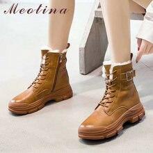 Meotina/ботинки в байкерском стиле из натуральной шерсти на