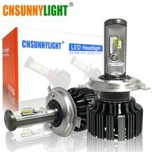 Cnsunnylight H11 LED H7 H4 H13 9005/HB3 9006/HB4 H1 Đèn Pha Ô Tô Bộ 6000K Bóng Đèn CSP tự Động Trước H3 880/881 H8 Đèn Sương Mù W/Quạt