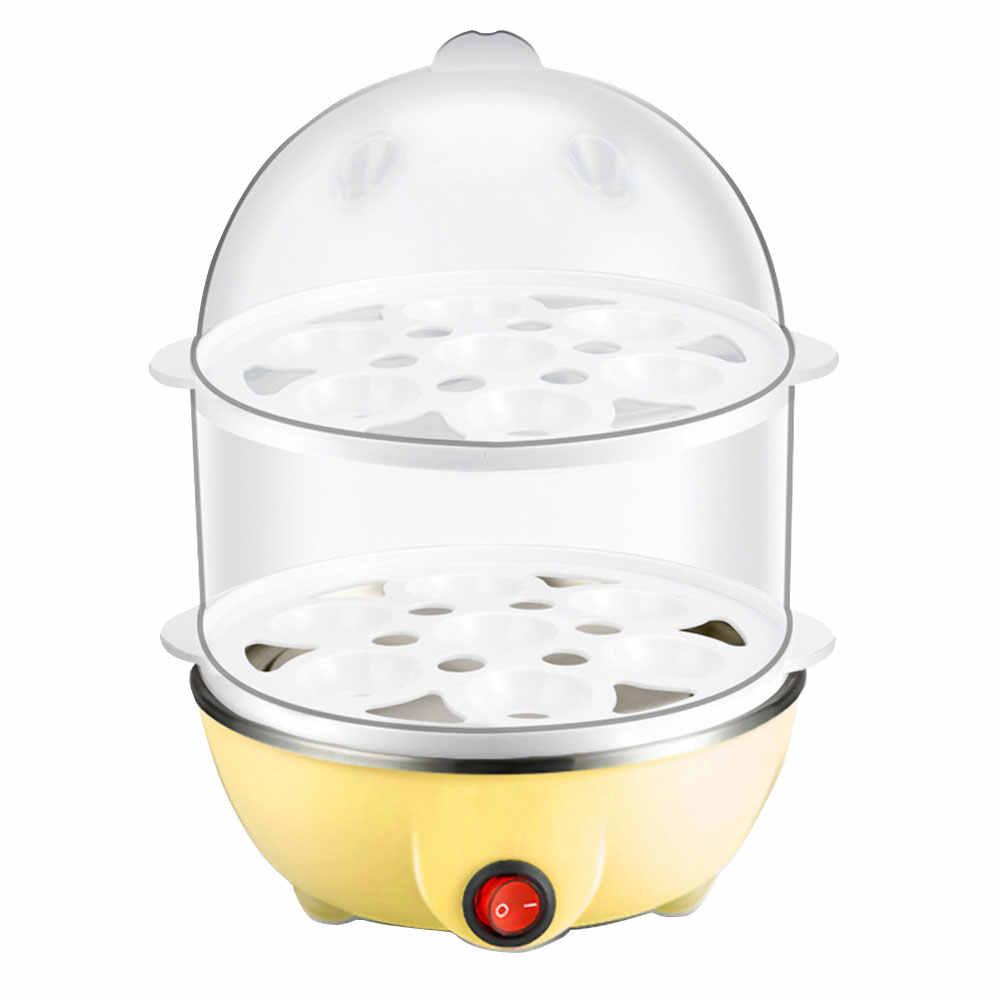 Nồi Hấp Trứng Vỉ Luộc Trứng Điện Nồi Cơm Điện Tử Đa Năng 2 Lớp Sàn Tàu 220V Braise Nồi Dành Cho Nhà Bếp nấu Ăn