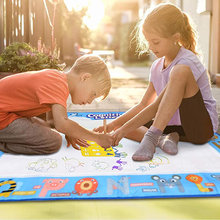 Big Size Magic Water Drawing Mat Coloring Doodle Carpet Pens Stamps Painting Board Toys Gift For Kids Child