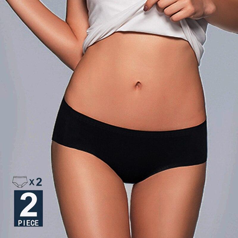 Kadınlar dikişsiz külot seksi iç çamaşırı düz renk kadın külot düşük bel külot Intimates Lingerie Pantys seti kız M-XL