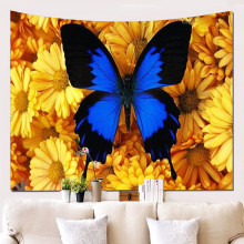 Butterfly Tapestry Hippie Wall Tapestry Wall Hanging Psychedelic Bohemian Tapiz Pared Tela Farmhouse Decor hot sale large adventure theme wall hanging tapestry home decoration wall tapestry tapiz pared 1750mm 1750mm