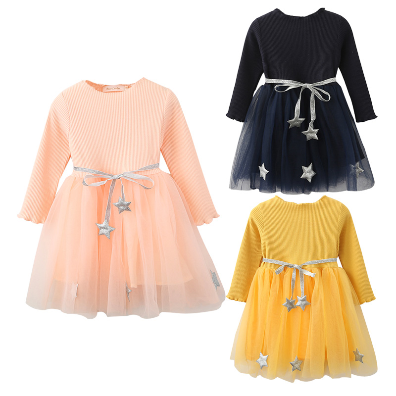 Детские кружевные вечерние платья для девочек рождественские платья-пачки с принтом для дня рождения детское Повседневное платье для дево...