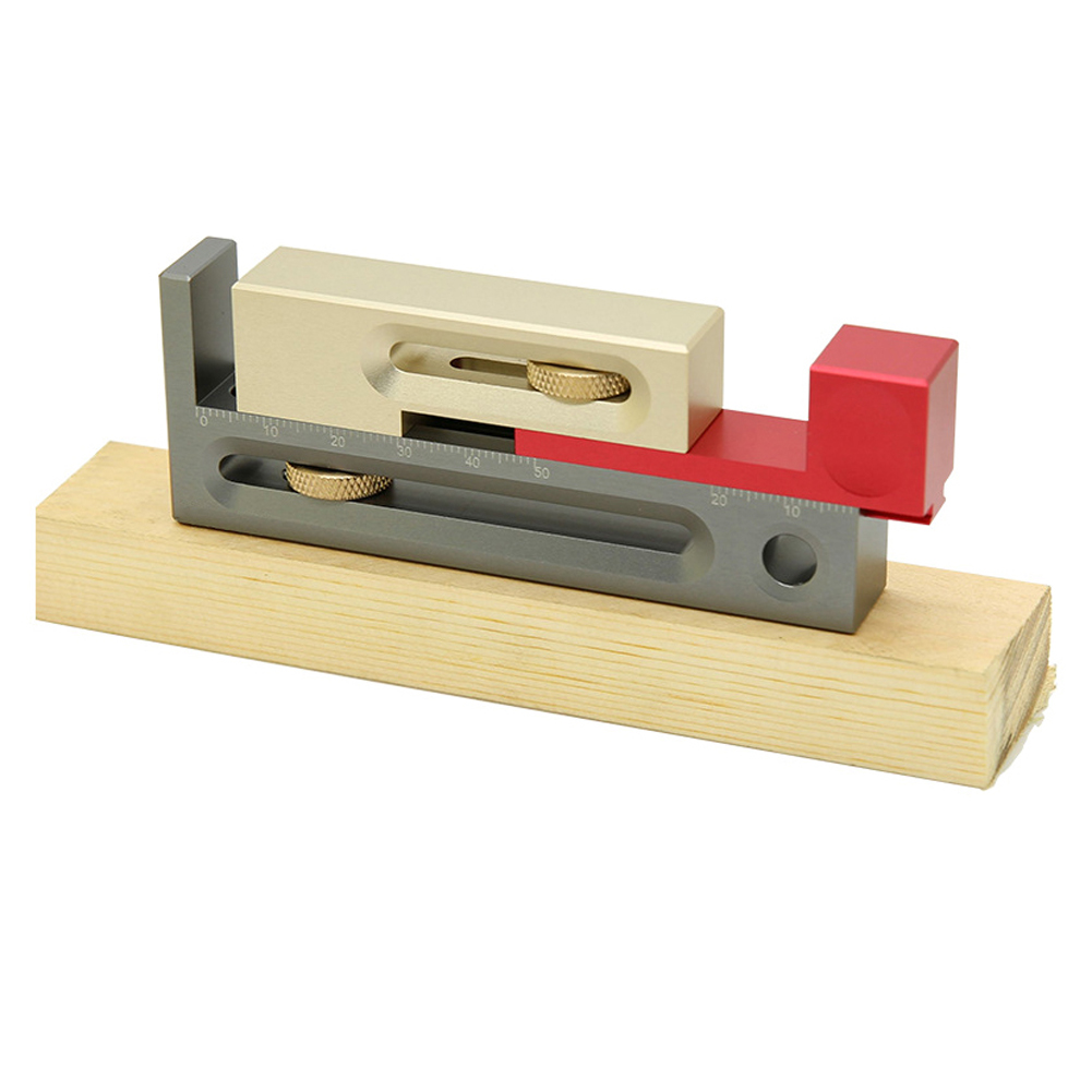 Table Saw Slot Adjuster Mortise And Tenon Tool Woodworking Movable Measuring Block Tenonmaker Length Compensation