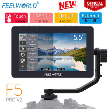 FEELWORLD F5 Pro V2 5.5 Inch on DSLR Camera Field Monitor Touch Screen 3D LUT FHD1920 1080 4K HDMI Video Focus Assist for Gimbal