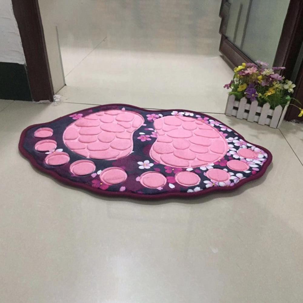 40 60CM Big Feet Bath Toilet Mat Bathroom RugsArea Rugs Carpet Doormat Floor Mat Absorbent Mats