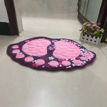40*60CM Big Feet Bath Toilet Mat Bathroom RugsArea Rugs Carpet Doormat Floor Mat Absorbent Mats Foot Pad Rug Support Wholesale(China)