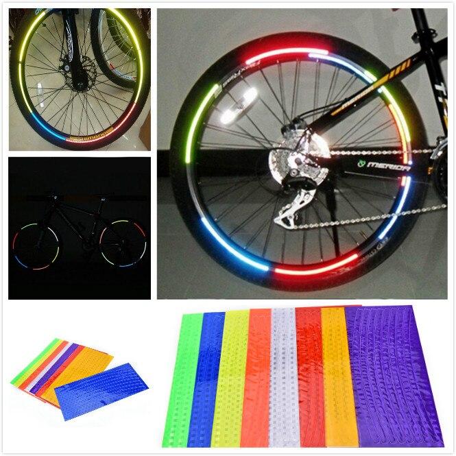 12Pcs Cycling Wheel Spoke Reflector Bike Bicycle Reflective Mount Clip Tube JK