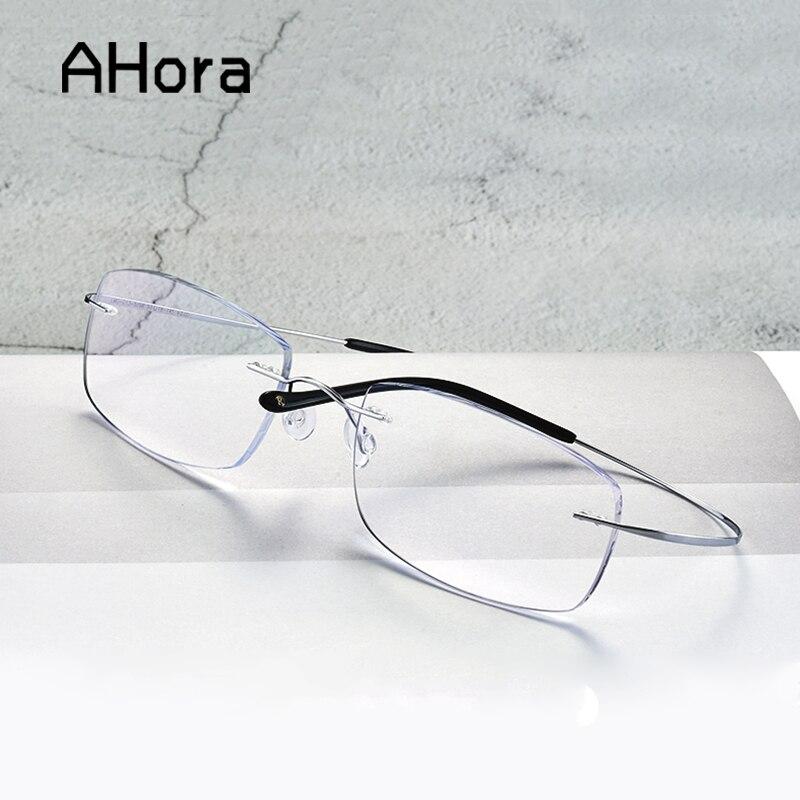 Ahora Frameless Reading Glasses Women Men Ultralight Presbyopic Business Eyewear Glasses +1.0 +1.5 +2.0 +2.5 +3.0 +3.5 +4.0