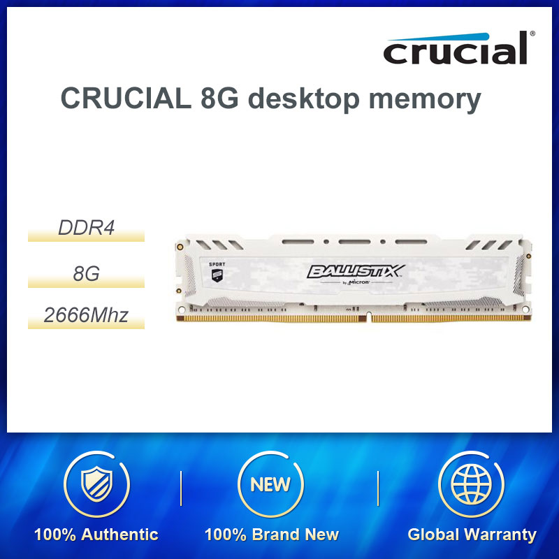 CRUCIAL 8G DDR4 2666 Desktop Memory Computer Memory Stick Compatible With 2400 Vests Efficient Stability / Strict Selection Of
