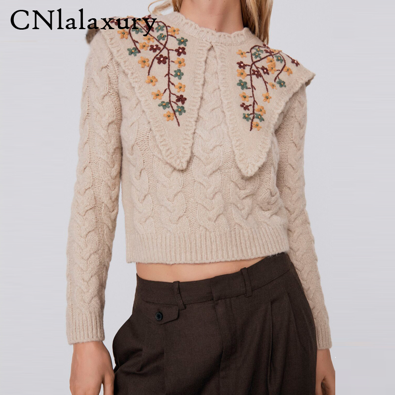 Best Offers Knitting Sweater Crop Brands And Get Free Shipping A110