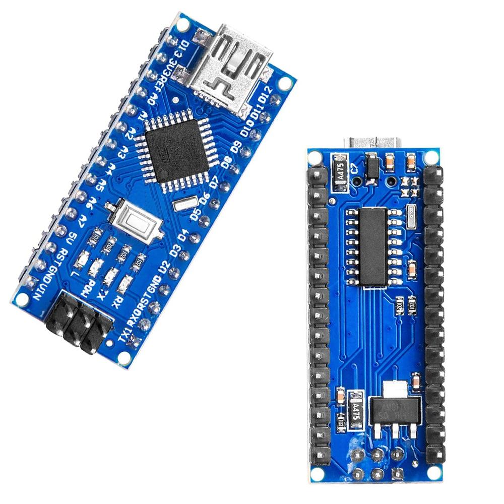 10 шт., мини-usb с контроллером зарядного устройства Nano 3,0, совместимый с драйвером USB arduino CH340, 16 МГц, NANO V3.0, Atmega328P