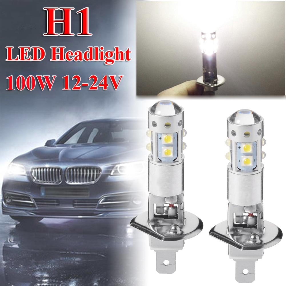 2pcs 6000K H1 80W Car Led Headlight Bulb H1 Fog Lamp Bulbs High Low Beam Car High Power Lamp Car Accessories Auto Products