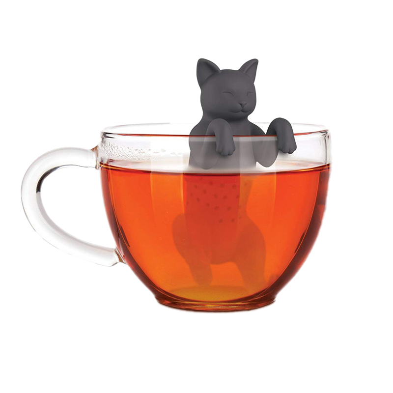 Silicone Tea Leak Animal Silica Gel Cat Tea Strainer Creative Cute Tea Coffee Bag Tea Balls Tools Teapot Accessory