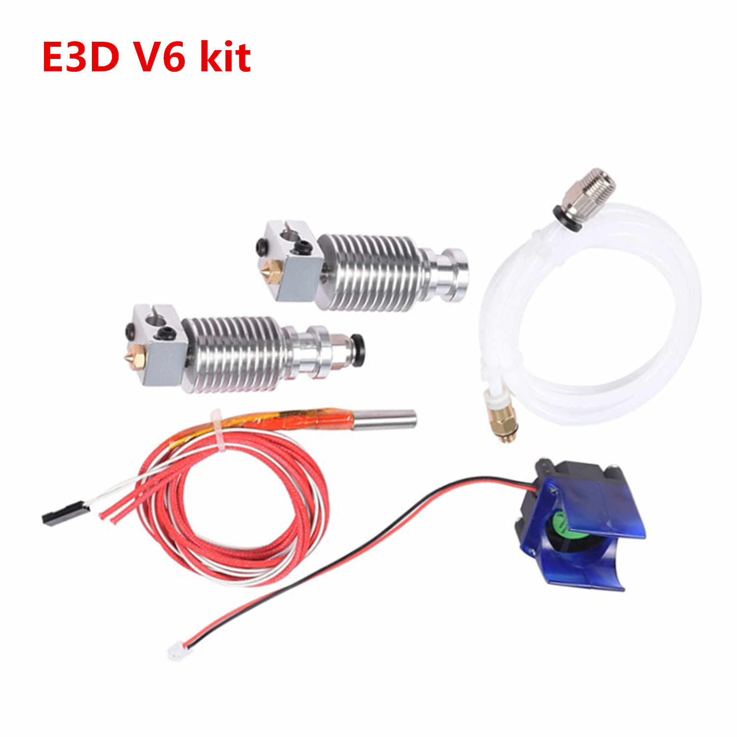 3d Printer Nozzle E3D V6 Extruder Upgrade Kit 1.75 Mm/0.4 Mm Aluminium J-Head Heater Hotend montage Filament Container