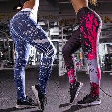 Женские спортивные Леггинсы с буквенным принтом, с высокой талией, пуш-ап, штаны для йоги, для спортзала, фитнеса, бега, лосины для бега#15