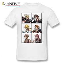 Final Fantasy T Shirt Characters Design Cloud Squall Zidane Tidus Vaan Lightning T-Shirt Cotton Tee Tshirt