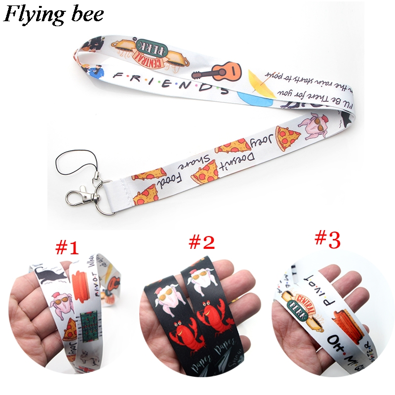 Flyingbee Friendship Lanyard Keychain Keys Holder Women Strap Neck Lanyards For Keys ID Card Phone Lanyard X0376