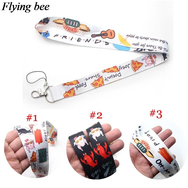 Flyingbee Friendship Lanyard Keychain Keys Holder Women Strap Neck Lanyards For Keys ID Card Phone Lanyard X0376