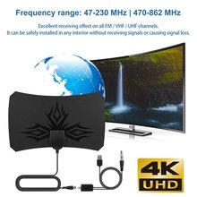 Antena interna do amplificador da tevê do amplificador da antena de 980 milhas antena DVB-T2 hdtv isdb-receptor do sinal de satélite da tb cleartv antena