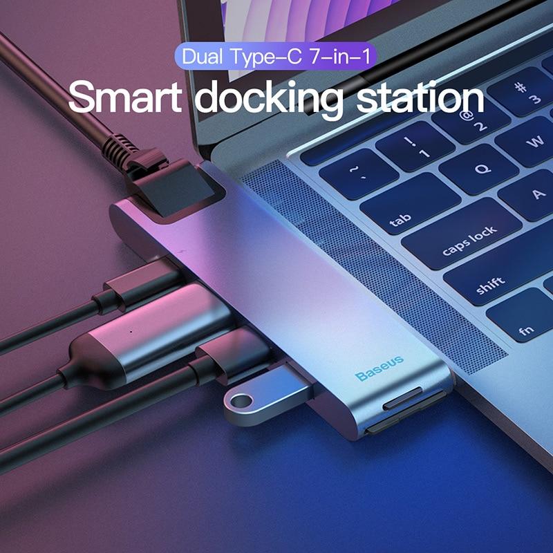 Baseus Thunderbolt 3 Dock USB Type C To HDMI HUB Adapter For MacBook Samsung Dex Galaxy S10/S9 USB-C Converter Thunderbolt HDMI