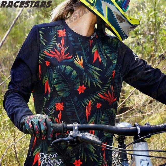 2020 Women Mountain Bike Jersey  Downhill Mountain long sleeve MTB Shirt