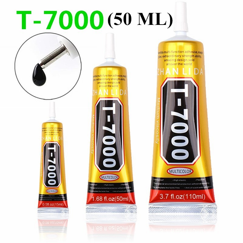 50 Ml  T7000 Glues Multipurpose Adhesives Super Glues  Black Liquid Epoxy Glues For DIY Crafts Glass Phone Case Metal Fabric