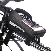 Saco de bicicleta à prova dwaterproof água quadro frente superior tubo ciclismo caso do telefone mtb bolsa para ciclismo ciclo ao ar livre entretenimento