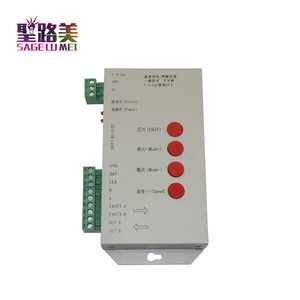 Image 4 - high quality T1000S SD Card WS2801 WS2811 WS2812B LPD6803 LED 2048 Pixels Controller DC5~24V T 1000S RGB Controller