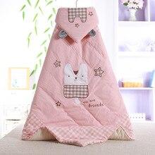 100*100 см мягкий спальный мешок из чесаного хлопка с подкладкой для новорожденных, детское одеяло с рисунком, детское одеяло