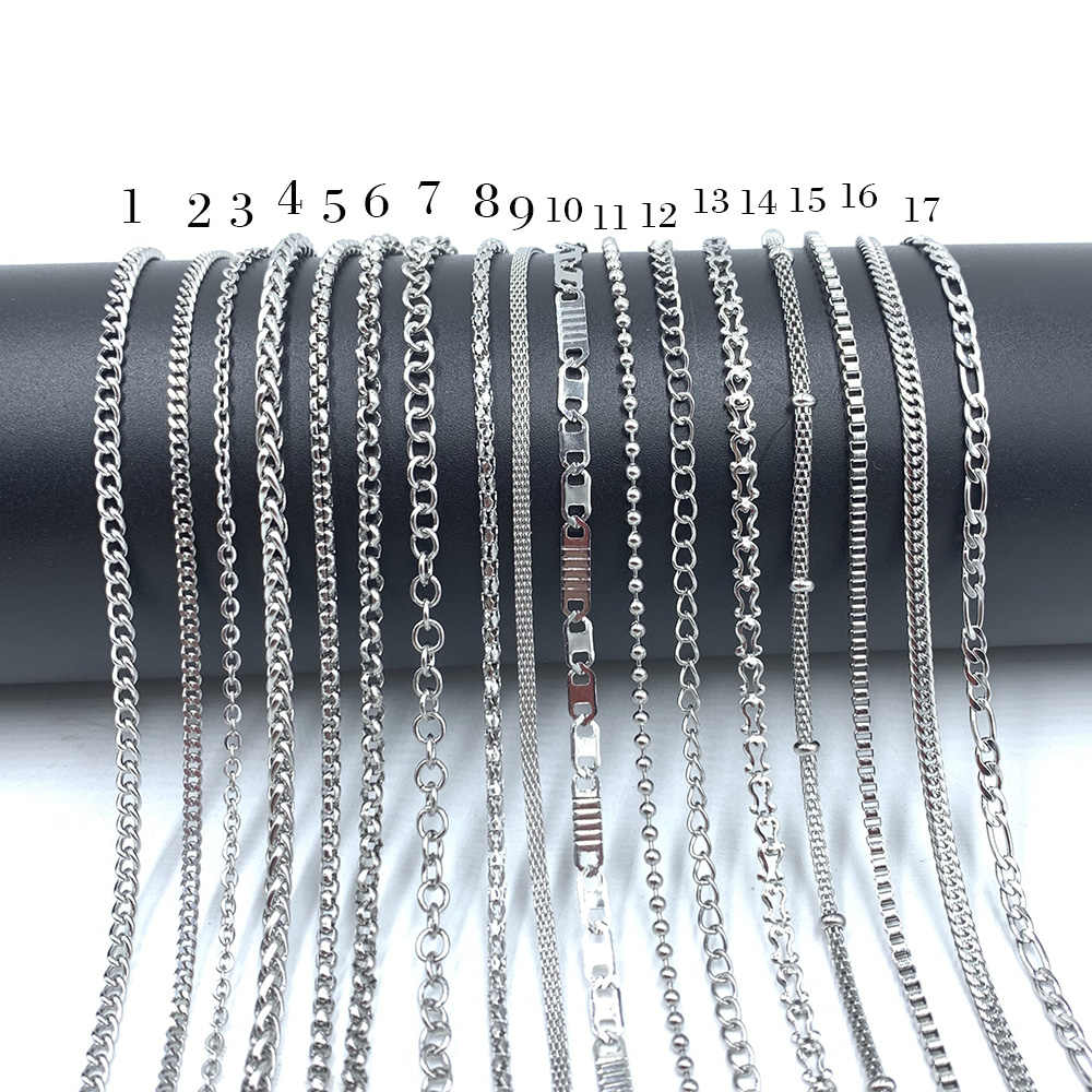 11.11 USENSET Link naszyjniki 304 łańcuchy ze stali nierdzewnej nigdy nie zetrzeć kolor koralik Box Keel wisiorek naszyjniki na prezenty
