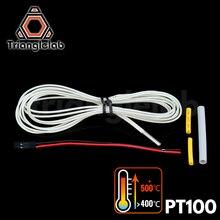 Trianglelab 3d piezas de la impresora PT100 Sensor de temperatura para alta temperatura para E3D V6 salida HOTEND 2017 PT100 sensor envío gratis