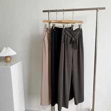 Summer 2020 New Style Drape High Waist Was Thin Straight Straight Mopping Trousers Women Wi