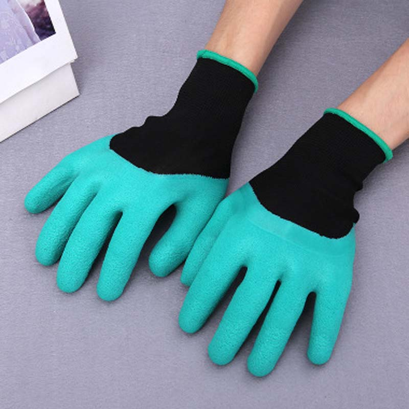 Rubberized Protective Work Gloves Non-slip Wearable Latex Gloves