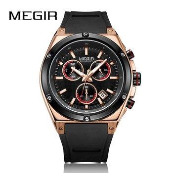 Megir Men'S Quartz Watches Male Silicone Clock Men Military Wrist Watch For Men Luxury Casual Waterproof Gentleman Branded Watch