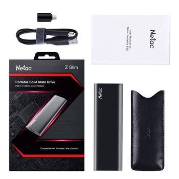 алиэкспресс на русском в рублях каталог, Внешний портативный SSD-накопитель Netac ZSLIM, USB 500 Type C, 250 ГБ, 3,1 ГБ