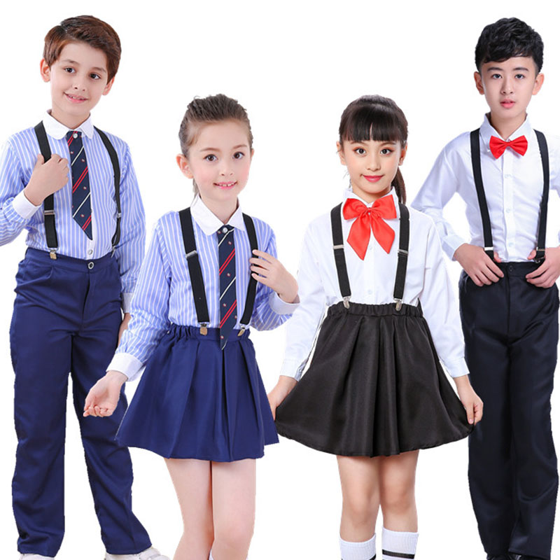 Children's Chorus Costumes, Primary And Secondary School Uniforms, Kindergarten Clothes, Boys And Girls, Bib, Reading Costumes