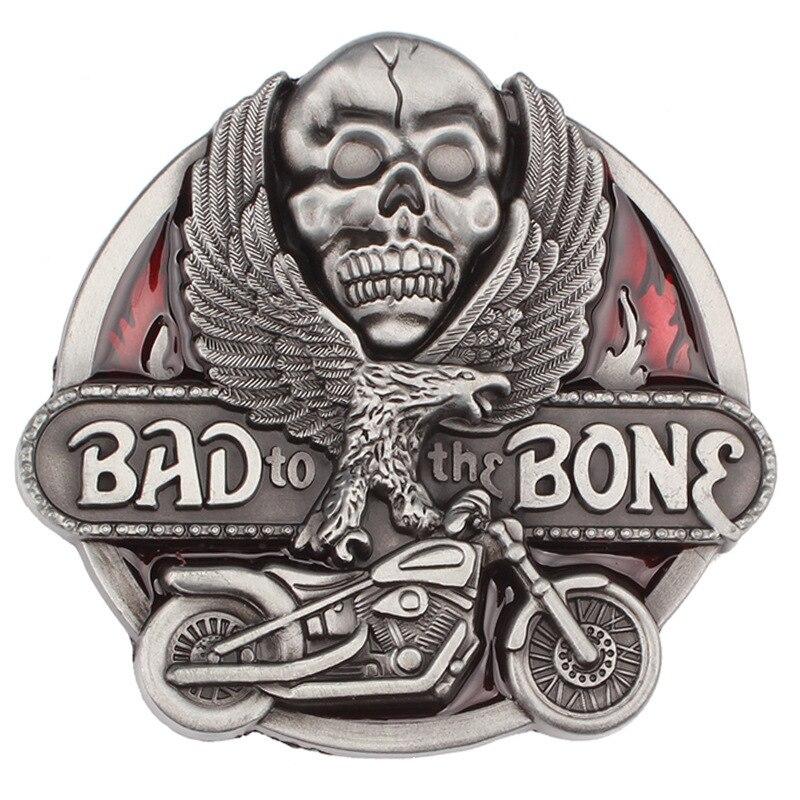 Handmade Belt Accessories Skull Skeleton Belt Buckle Belt DIY Western Cowboy Style Smooth Belt Buckle Punk Rock Style K32