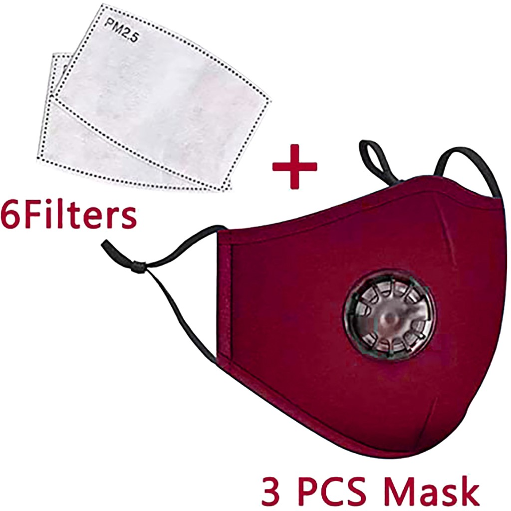 3PCS+6PCS Reusable Cotton Mouth Face Cover Comfortable Anti-Dust Anti-saliva Anti Infection Anti-droplets Splash-proof Windproof