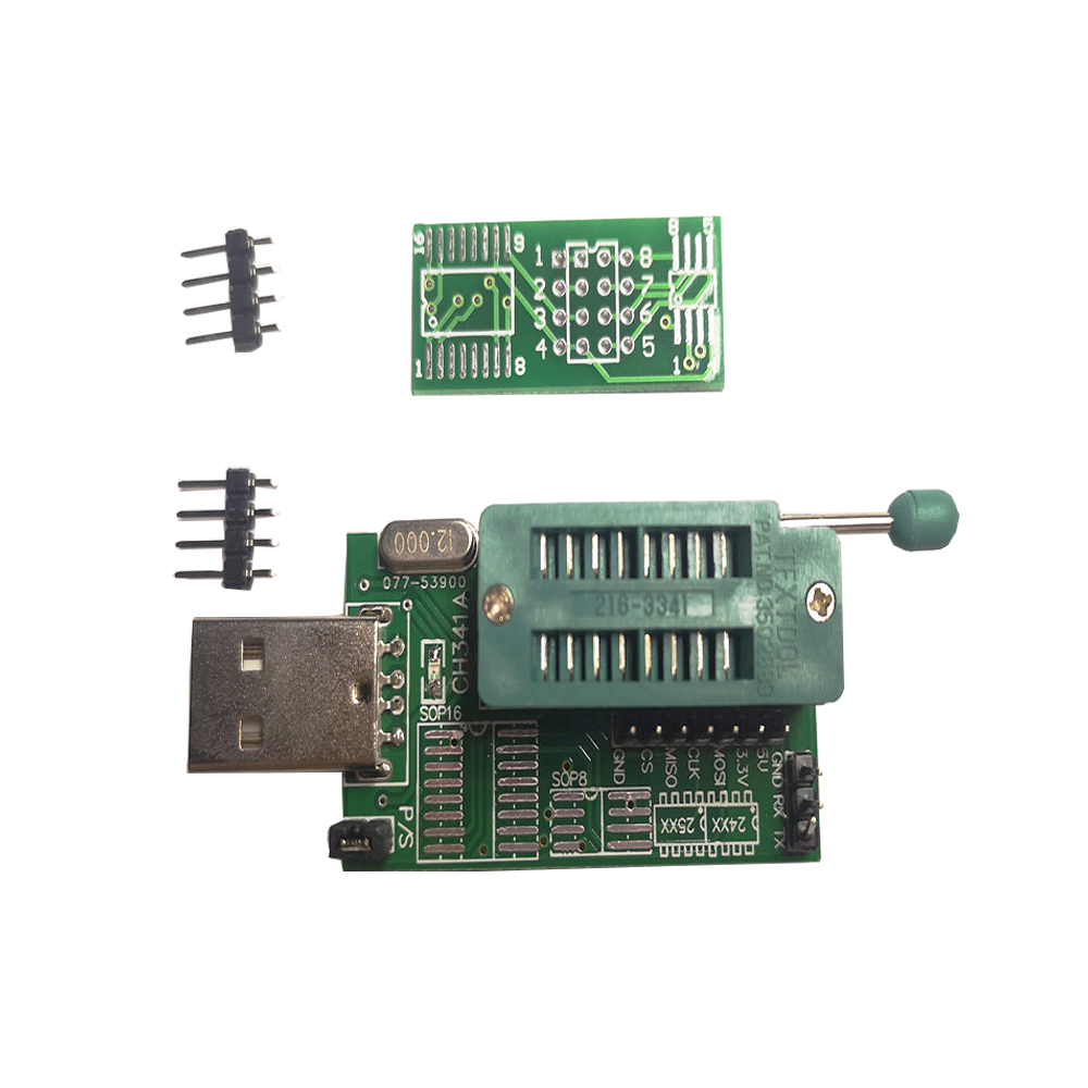 CH341A Module 24xx 25xx Series Test Clip For EEPROM Flash BIOS Board  Module USB Programmer EEPROM 93CXX/25CXX /24CXX