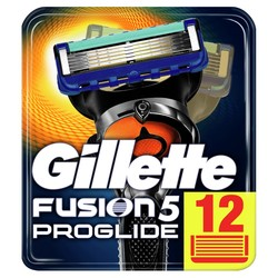 Cuchillas de afeitar extraíbles para hombres Gillette Fusion cuchilla proglide para afeitar 12 casetes reemplazables cartucho de fusión de afeitar
