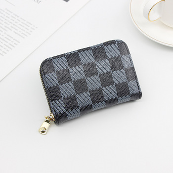 Fashion Brand Business Card Holder Women ID/Credit Card Holder Card Wallet PU Leather Function Zipper Card Case Girls Gifts