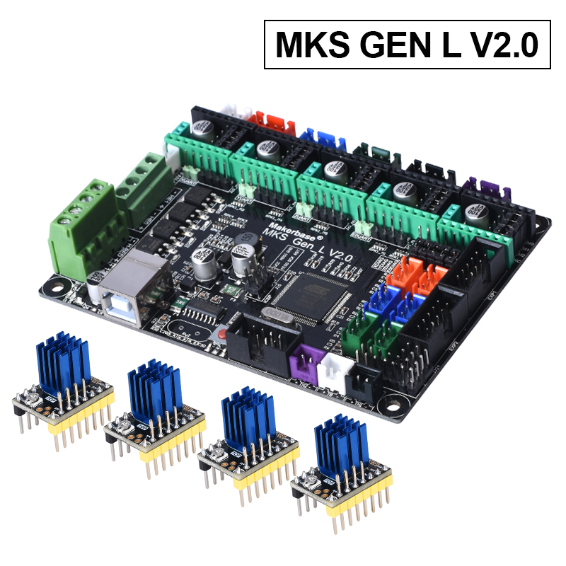MKS Gen L V2.0 Control PCB Board Reprap Ramps 1.4 Skr V1.3 Support A4988/DRV8825/TMC2208/TMC2130 Driver 3D Printer Parts