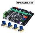 MKS Gen L V2.0 плата управления печатной платы Reprap Ramps 1,4 skr v1.3 поддержка A4988/DRV8825/TMC2208/TMC2130 драйвер части 3d принтера