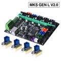 Mks Gen L V2.0 di Controllo Pcb Bordo Reprap Rampe 1.4 Skr V1.3 Supporto A4988/DRV8825/TMC2208/TMC2130 driver 3D Parti Della Stampante