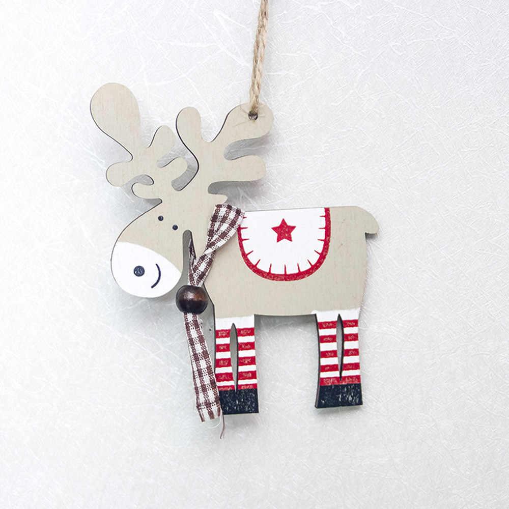 Caldo Di Natale In Legno Dipinto Alce Pendente di Natale Albero Di Natale Decorazione di Natale Decorazione Cervo Di Natale Ornamenti di Natale Decorazioni Per La Casa #15