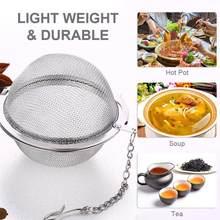 Bola de ervas do filtro grande da malha, filtro copo em aço inoxidável para cozinha, ferramentas para chá e fechamento