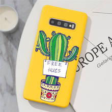 Cactus Plant Phone Case For Samsung Galaxy S10 S20 Ultra S8 S9 S10e Note 10 20 8 9 Lite J4 J6 Plus 2018 Color Back Cover Case