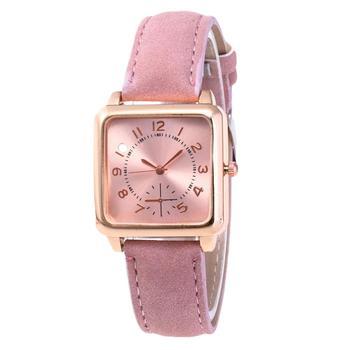 цена Fashion Elegant Women Watch Faux Leather Watchband Square Dial Arabic Number Analog Clock Quartz Wrist Watch reloj mujer онлайн в 2017 году